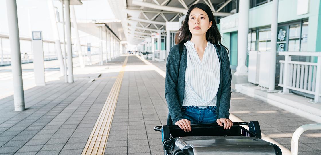 空港送迎女性
